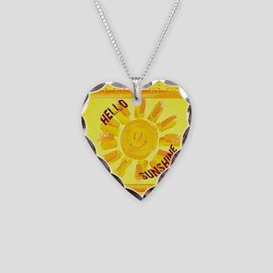 hello sunshine Necklace Heart Charm