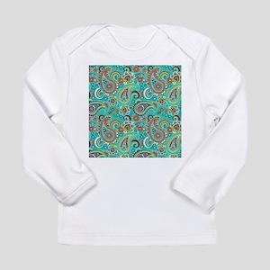 Colorful Vintage Paisley Long Sleeve T-Shirt