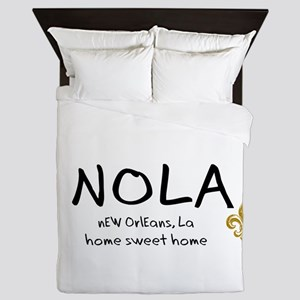 NOLA Home Sweet Home Queen Duvet