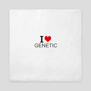 I Love Genetics Queen Duvet