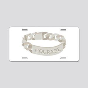 Courage Bracelet Aluminum License Plate