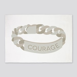 Courage Bracelet 5'x7'Area Rug