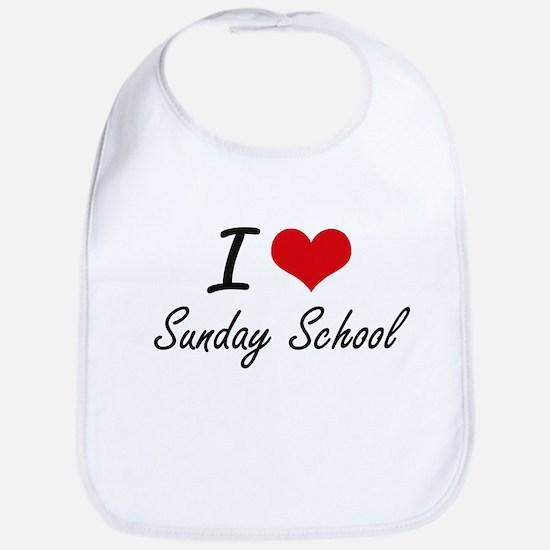 I love Sunday School Bib