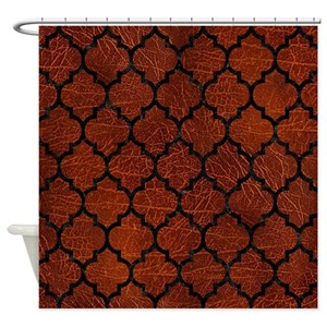 Black And Red Chevron Shower Curtains