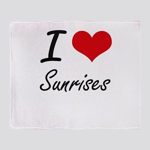 I love Sunrises Throw Blanket