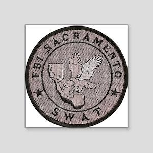 "FBI Sacramento SWAT Square Sticker 3"" x 3"""