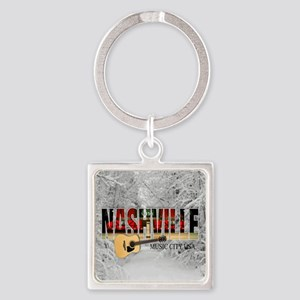 Nashville Music City-CO1 Square Keychain