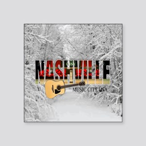 "Nashville Music City-CO1 Square Sticker 3"" x 3"""