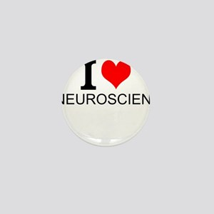 I Love Neuroscience Mini Button