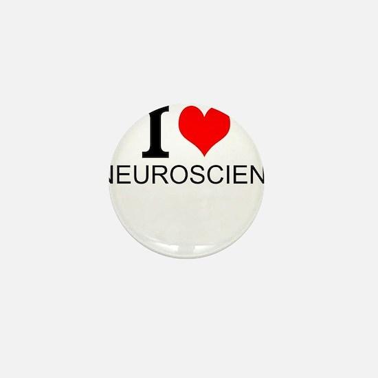 I Love Neuroscience Mini Button