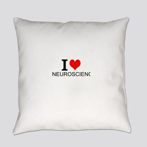 I Love Neuroscience Everyday Pillow
