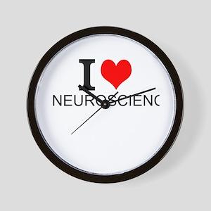 I Love Neuroscience Wall Clock