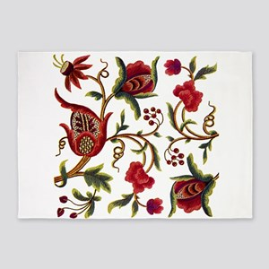 Princess Anne Embroidery 5'x7'Area Rug