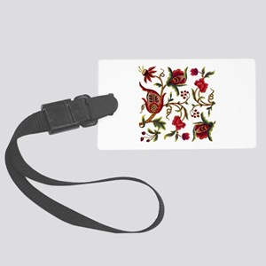 Princess Anne Embroidery Large Luggage Tag