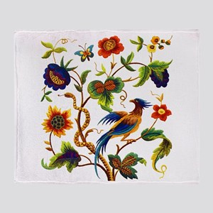 Bird of Paradise Embroidery Throw Blanket