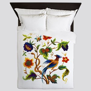 Bird of Paradise Embroidery Queen Duvet