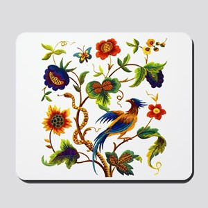 Bird of Paradise Embroidery Mousepad