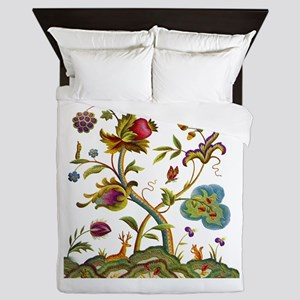 Tree of Life Embroidery Queen Duvet