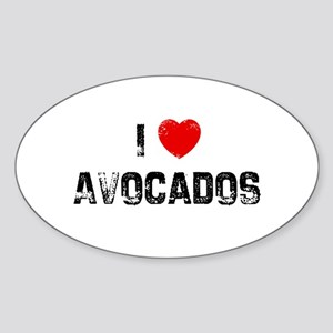I * Avocados Oval Sticker