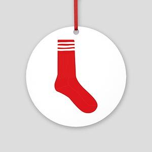 Crew Sock Round Ornament