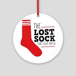 Lost Sock Round Ornament