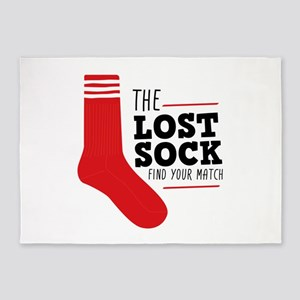 Lost Sock 5'x7'Area Rug