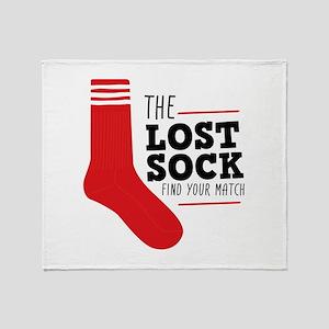 Lost Sock Throw Blanket