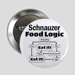 """Schnauzer Food 2.25"""" Button"""