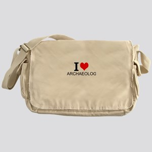 I Love Archaeology Messenger Bag