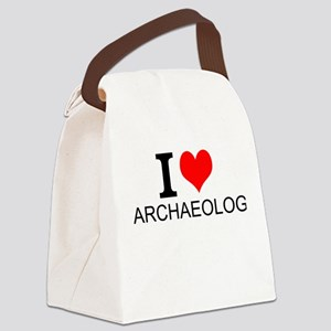 I Love Archaeology Canvas Lunch Bag