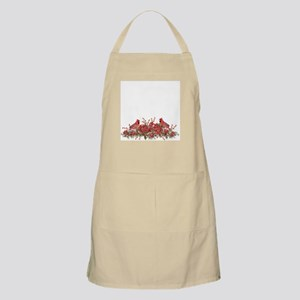 Holly, Poinsettias and Cardinals Apron