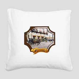 Cheers Opening Horse Square Canvas Pillow