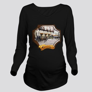 Cheers Opening Horse Long Sleeve Maternity T-Shirt