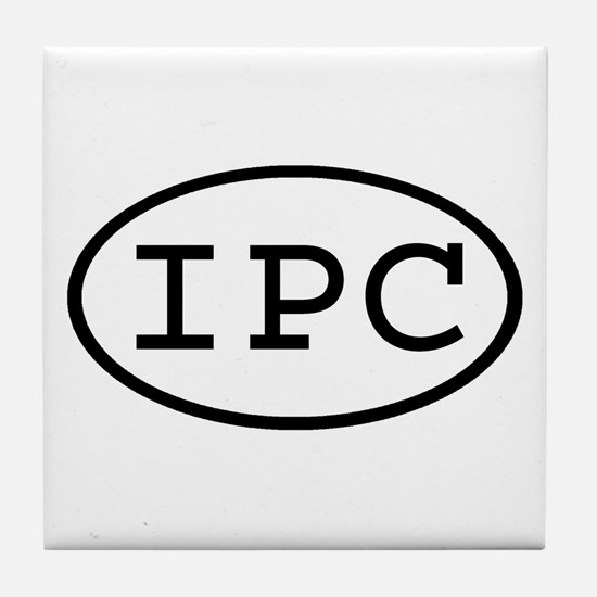 IPC Oval Tile Coaster