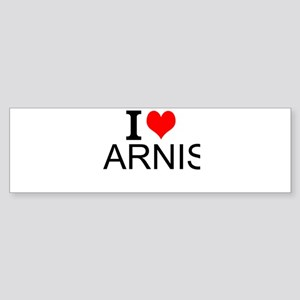 I Love Arnis Bumper Sticker