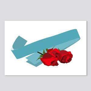 Sash And Roses Postcards (Package of 8)