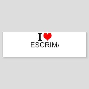 I Love Escrima Bumper Sticker
