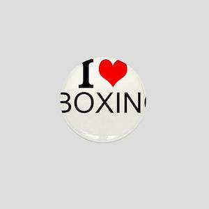 I Love Boxing Mini Button
