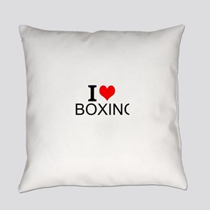I Love Boxing Everyday Pillow