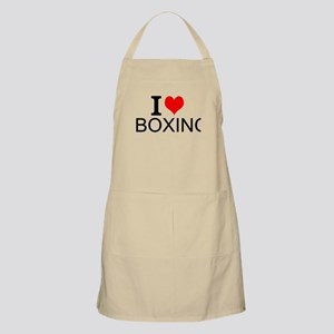 I Love Boxing Apron