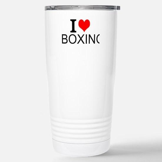 I Love Boxing Travel Mug