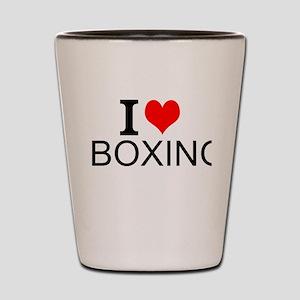 I Love Boxing Shot Glass