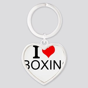 I Love Boxing Keychains