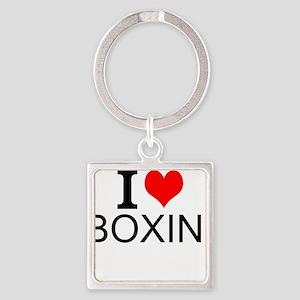 I Love Boxing Keychains