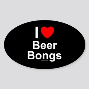 Beer Bongs Sticker (Oval)