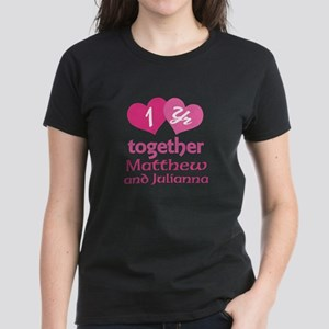 1st Anniversary Love Hearts T-Shirt