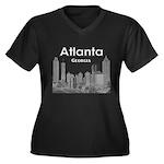 Alanta Women's Plus Size V-Neck Dark T-Shirt