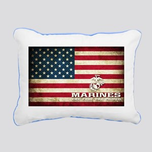MARINES-USA FLAG Rectangular Canvas Pillow