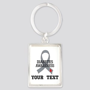 Diabetes Awareness Personalized Keychains
