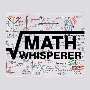 math whisperer Throw Blanket